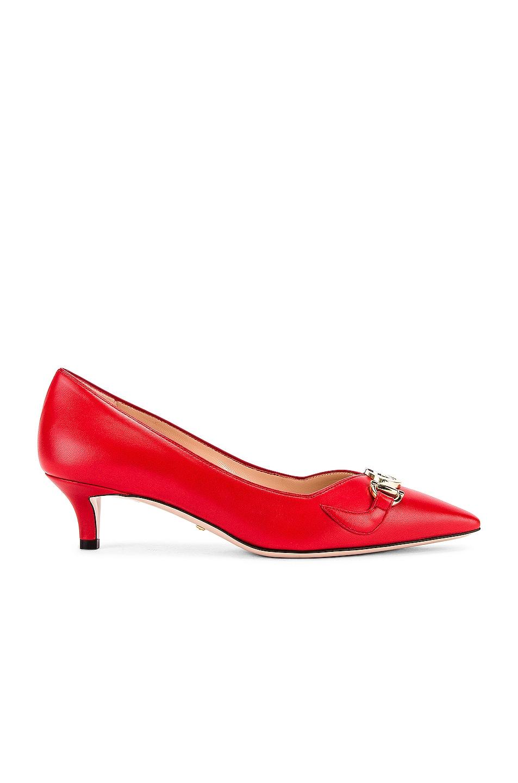 Image 2 of Gucci Low Heel Pumps in Heron Red