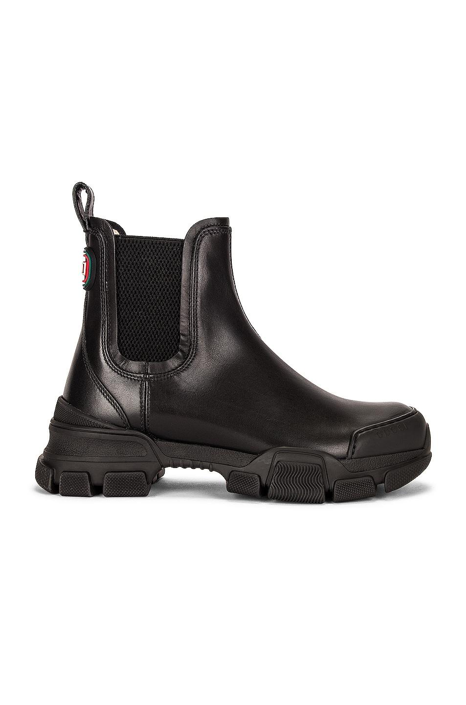 Image 1 of Gucci Leon Boots in Nero & Nero