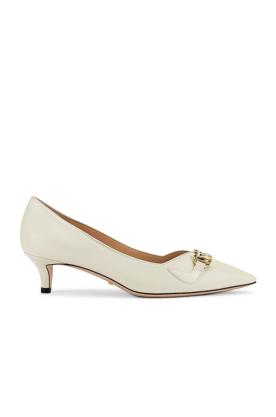 Image 2 of Gucci Low Heel Pumps in Dusty White