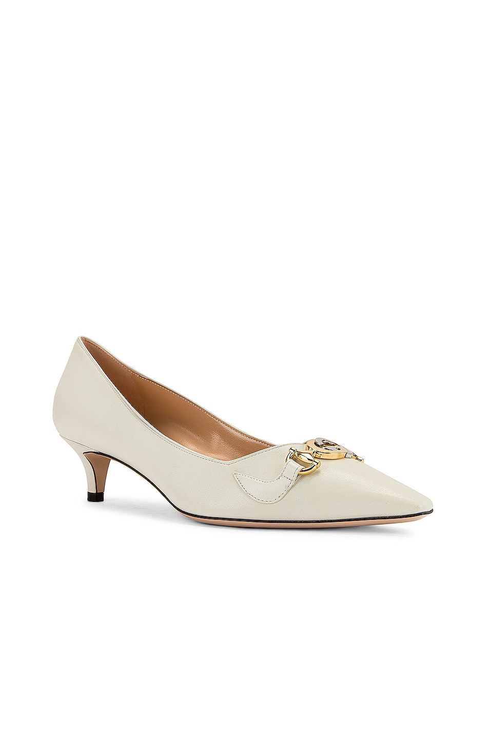 Image 3 of Gucci Low Heel Pumps in Dusty White