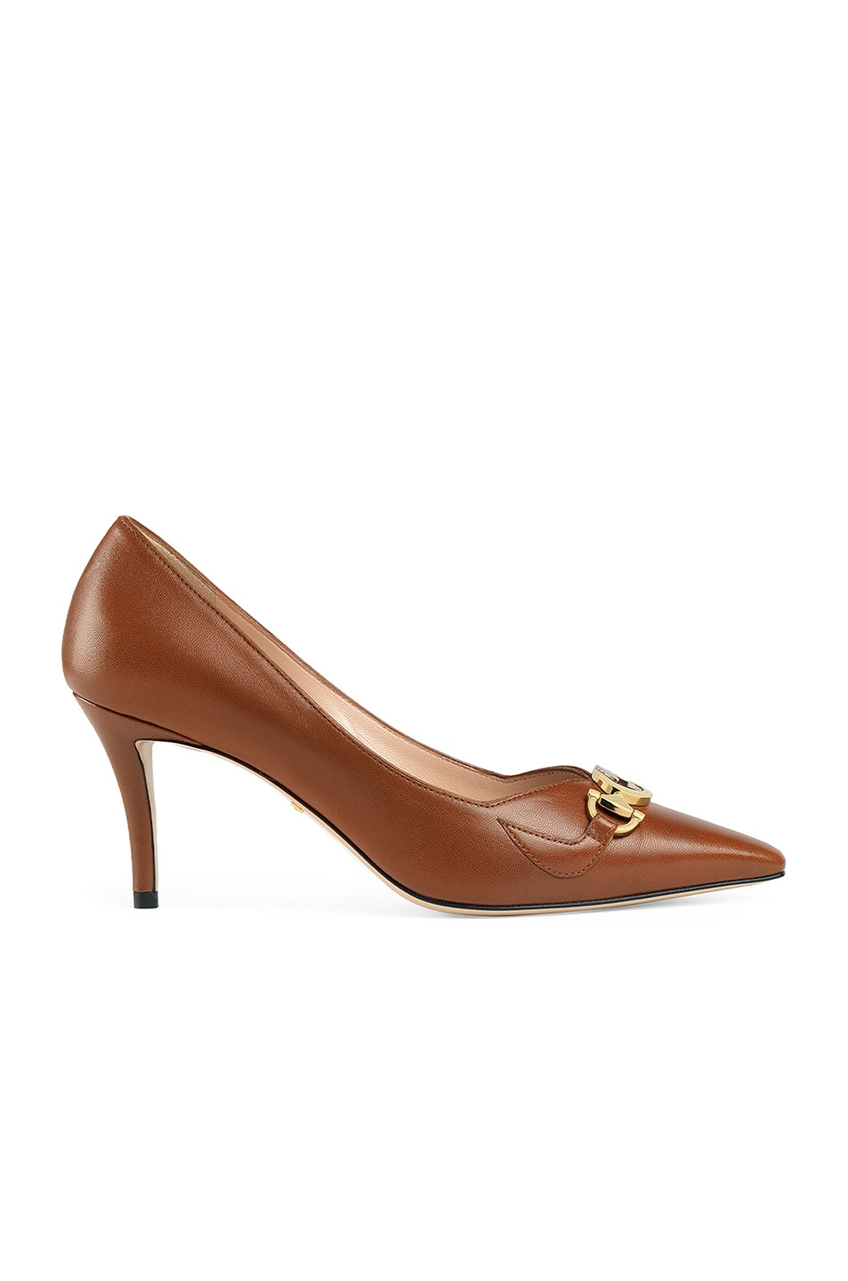 Image 1 of Gucci Low Heel Pumps in Brown Papaya