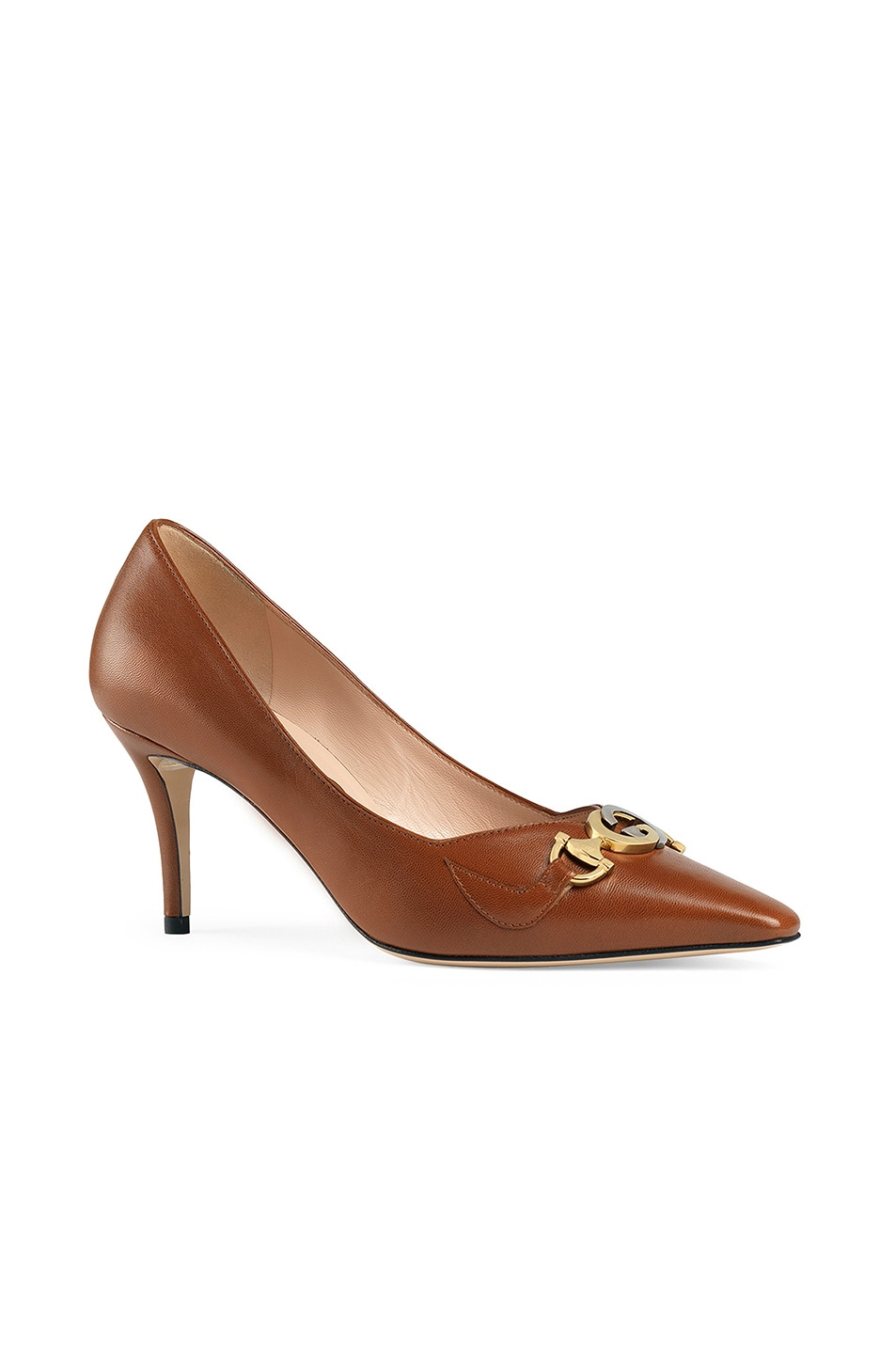 Image 2 of Gucci Low Heel Pumps in Brown Papaya