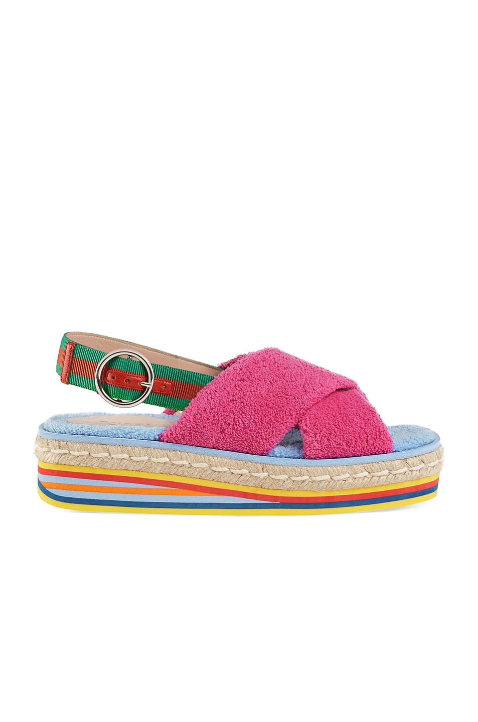 Image 1 of Gucci Platform Sandals in Multi