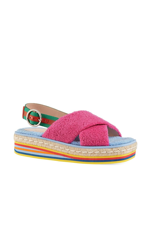 Image 2 of Gucci Huma Platform Sandals in Multi