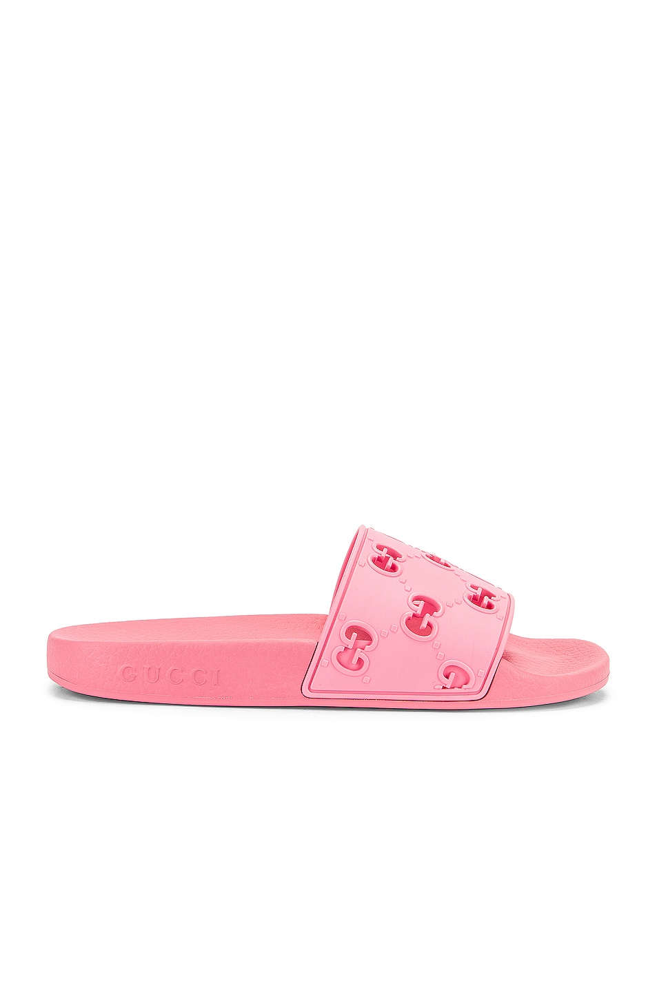 Image 2 of Gucci Bee Rubber Slides in Pink