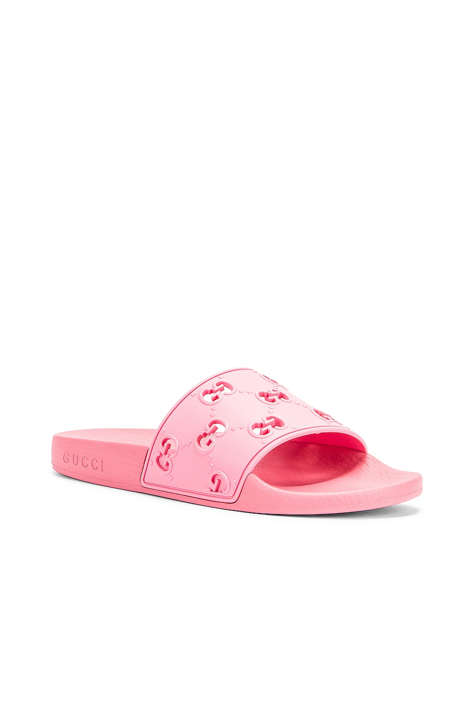 Image 3 of Gucci Bee Rubber Slides in Pink
