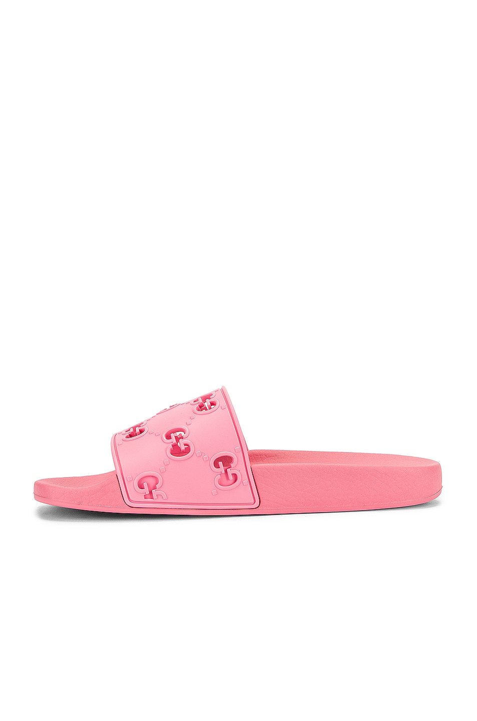 Image 5 of Gucci Bee Rubber Slides in Pink