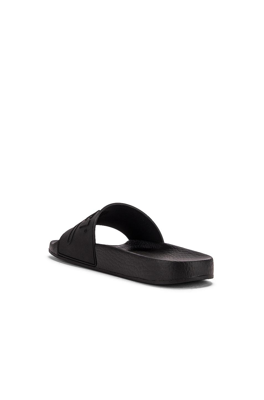 Image 4 of Gucci Pursuit Rubber Slides in Black