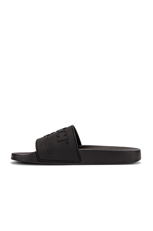 Image 5 of Gucci Pursuit Rubber Slides in Black