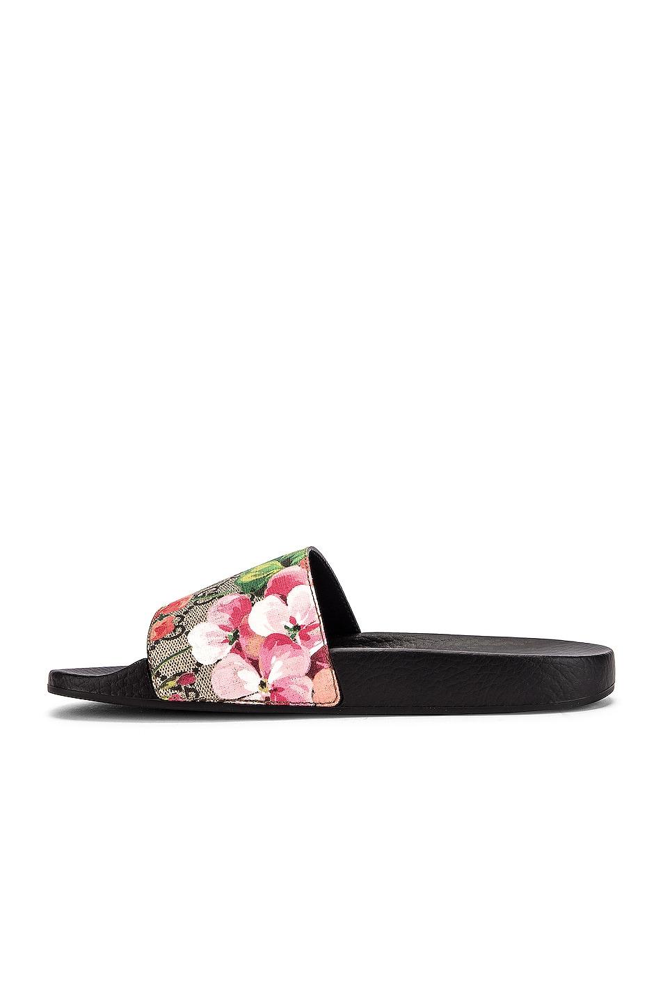 Image 5 of Gucci Pursuit GG Supreme Flora Slides in Beige Ebony & Multicolor