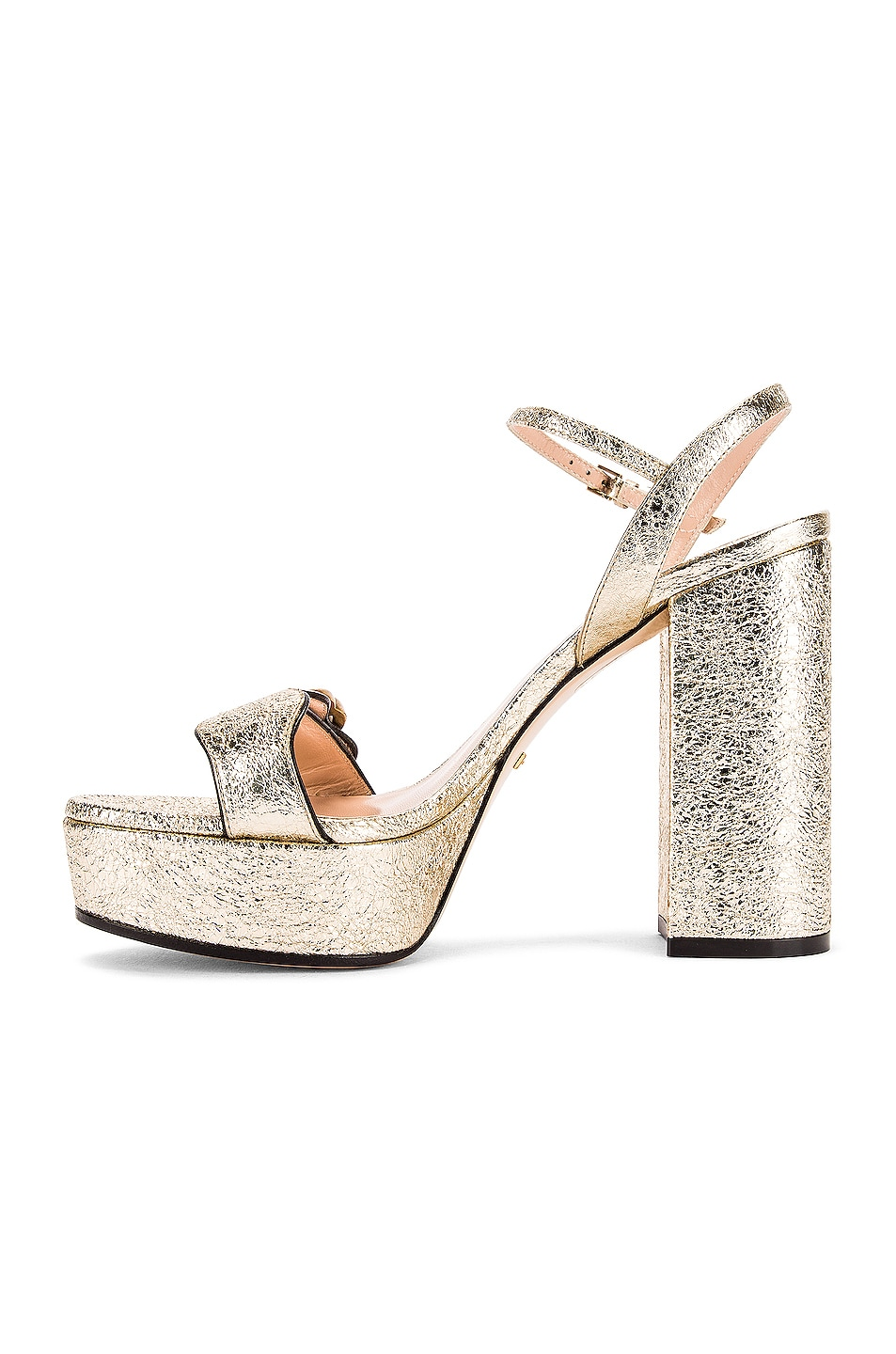 Image 5 of Gucci Double G Platform Sandals in Platino