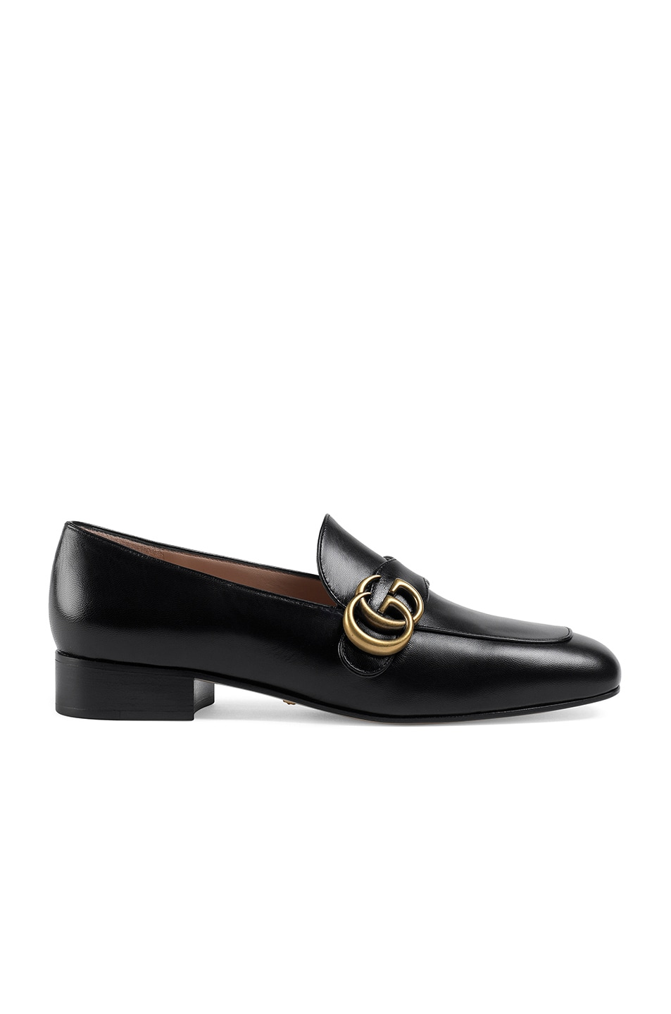 Image 1 of Gucci Double G Leather Loafers in Black