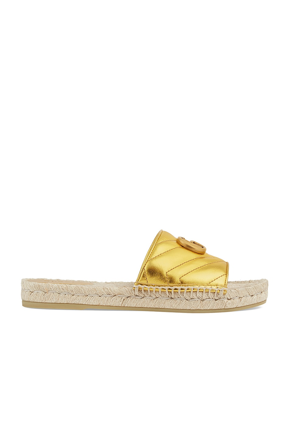 Image 1 of Gucci Pilar Sandals in Gold