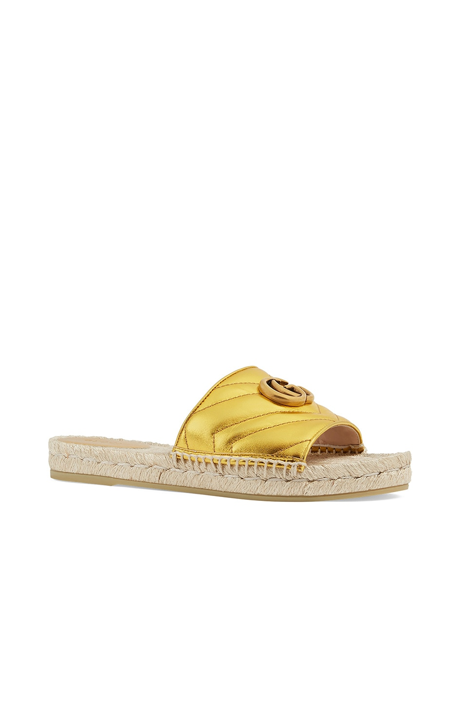 Image 2 of Gucci Pilar Sandals in Gold