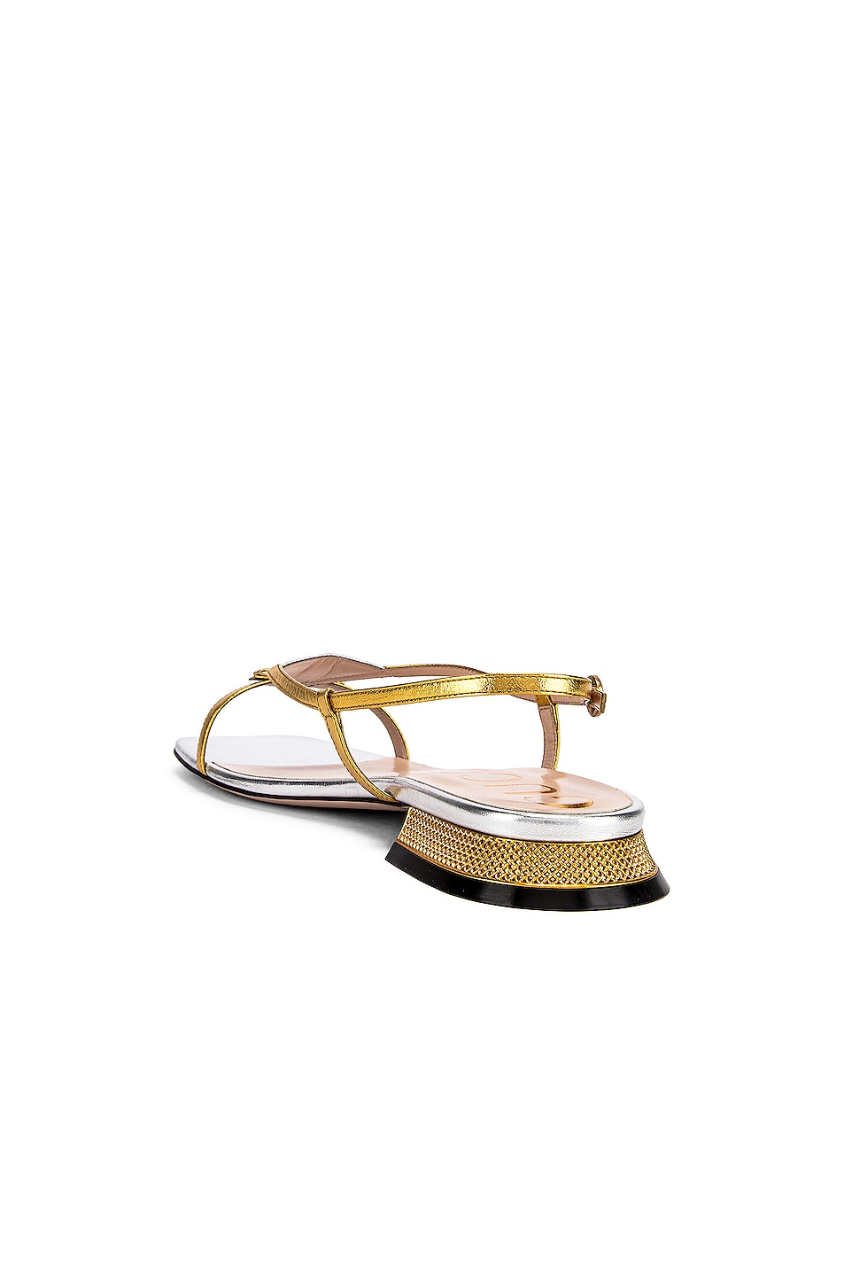 Image 4 of Gucci Alison Sandals in Gold & Silver