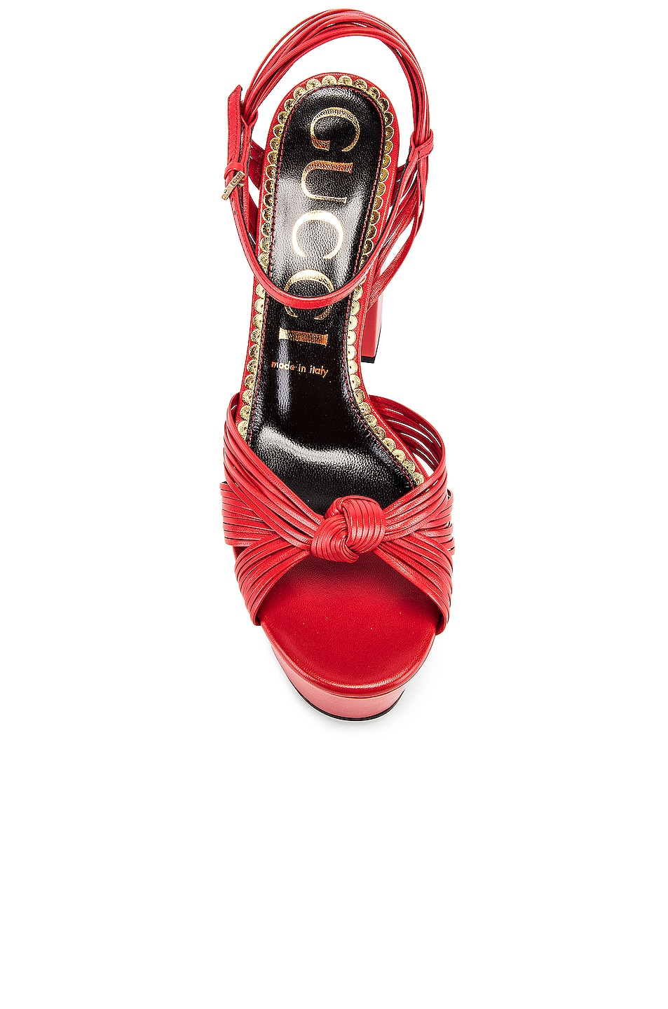 Image 4 of Gucci Crawford Platform Sandals in Heron Red