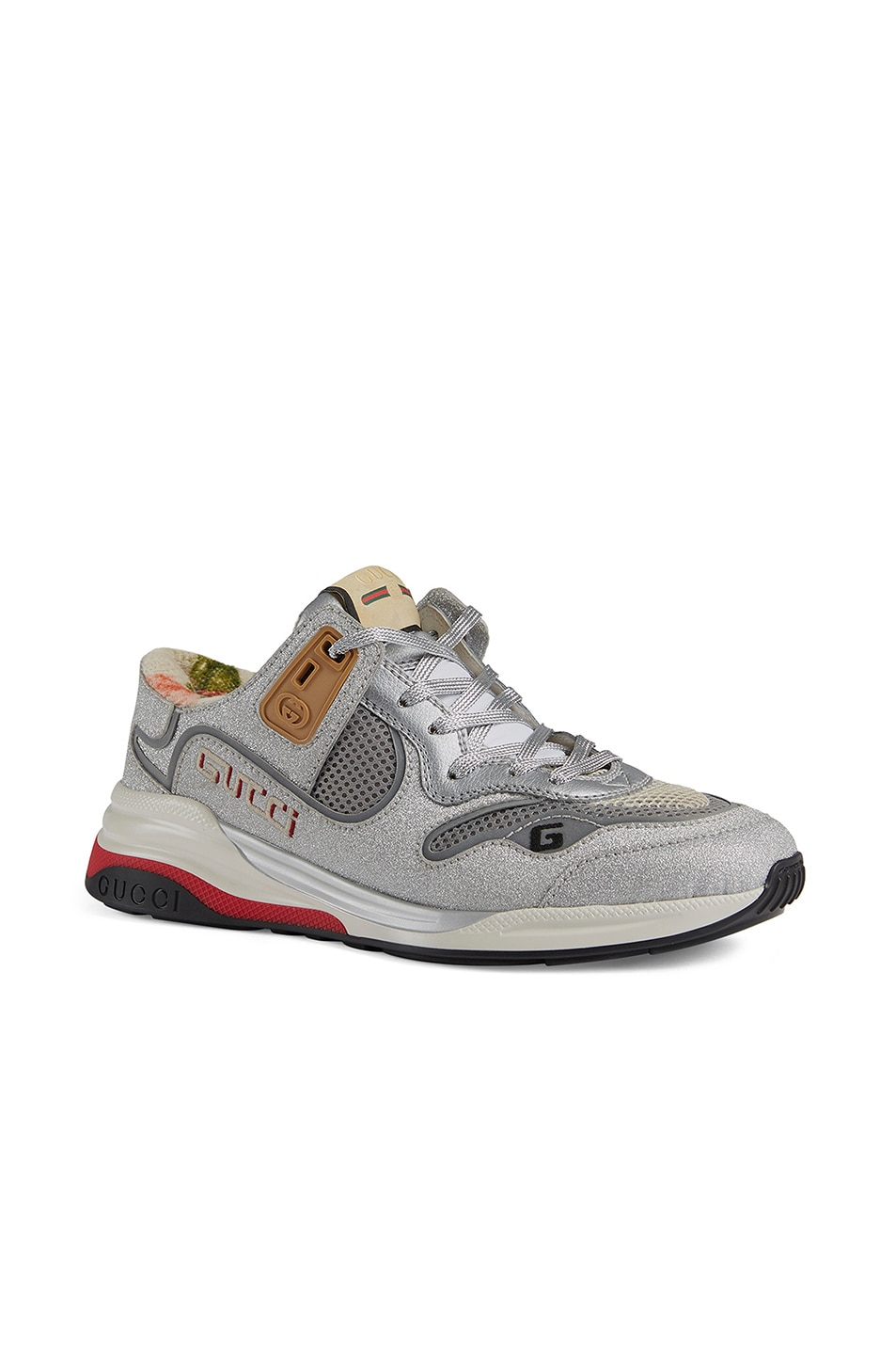 Image 2 of Gucci G Line Sneakers in Silver