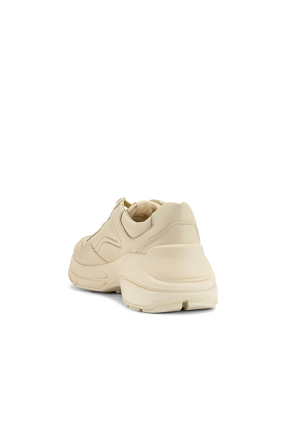 Image 3 of Gucci Rhyton Logo Sneakers in Ivory