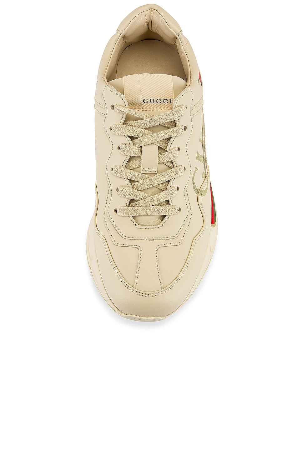 Image 4 of Gucci Rhyton Logo Sneakers in Ivory