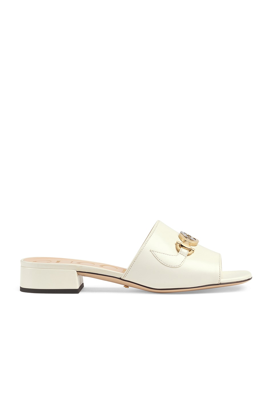 Image 1 of Gucci Leather Sandals in Dusty White
