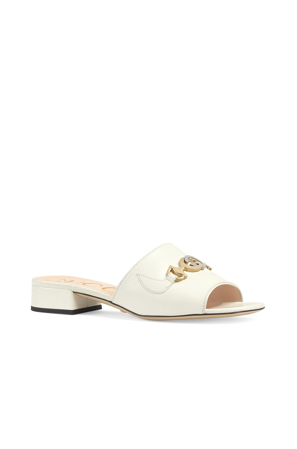 Image 2 of Gucci Leather Sandals in Dusty White