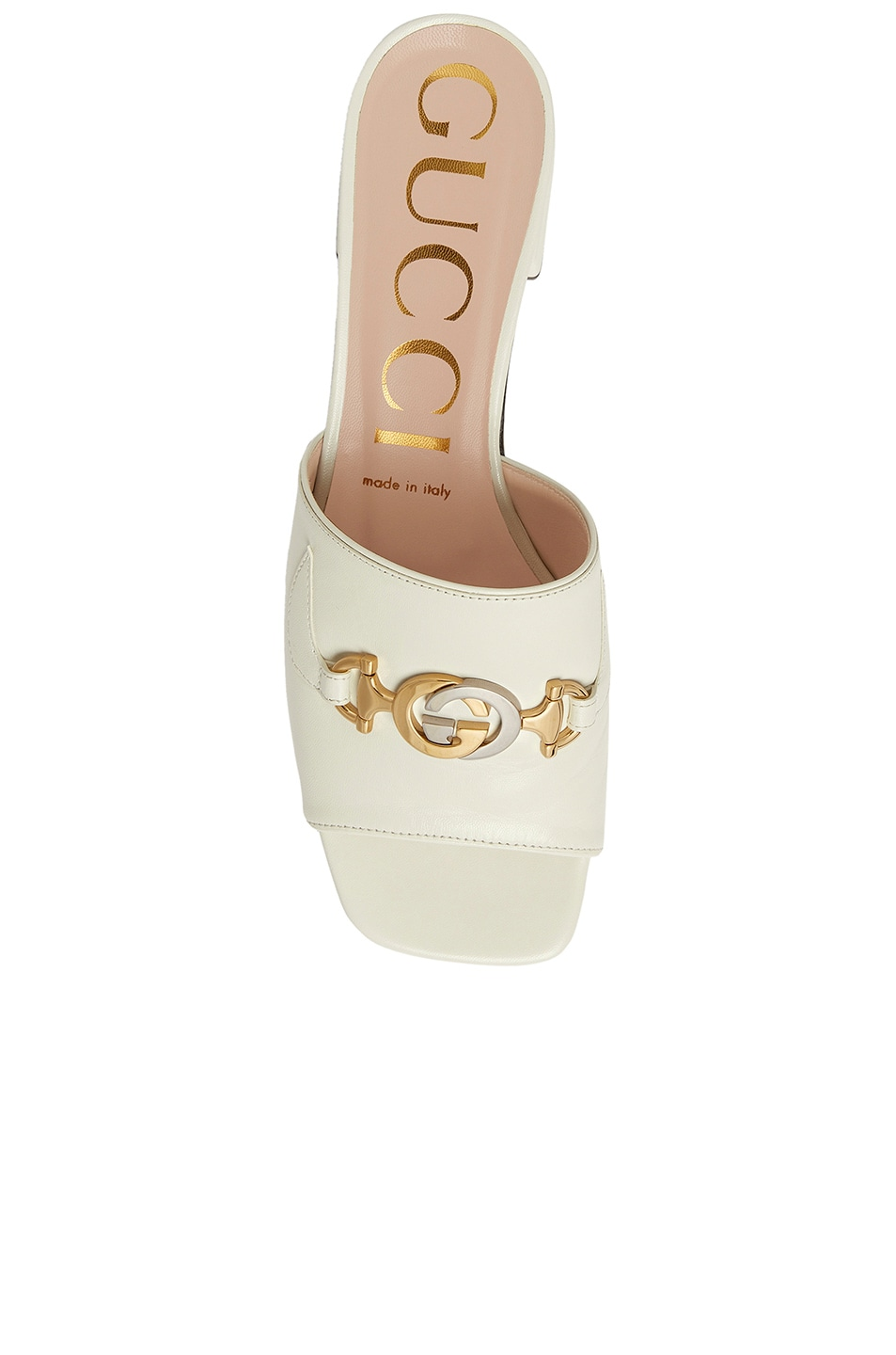 Image 3 of Gucci Leather Sandals in Dusty White