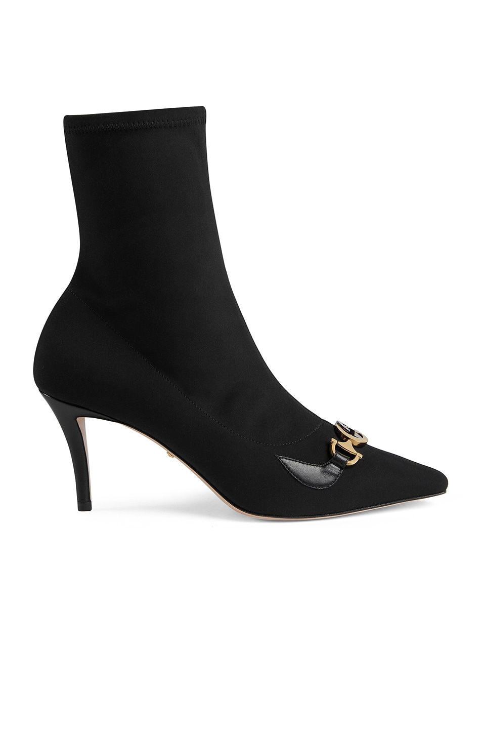 Image 1 of Gucci Mid Heel Ankle Booties in Black
