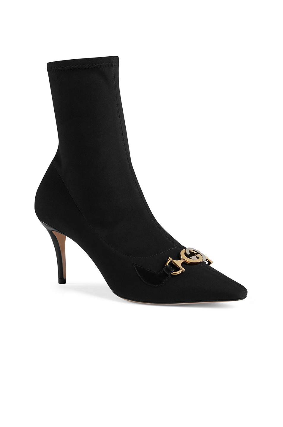 Image 2 of Gucci Mid Heel Ankle Booties in Black