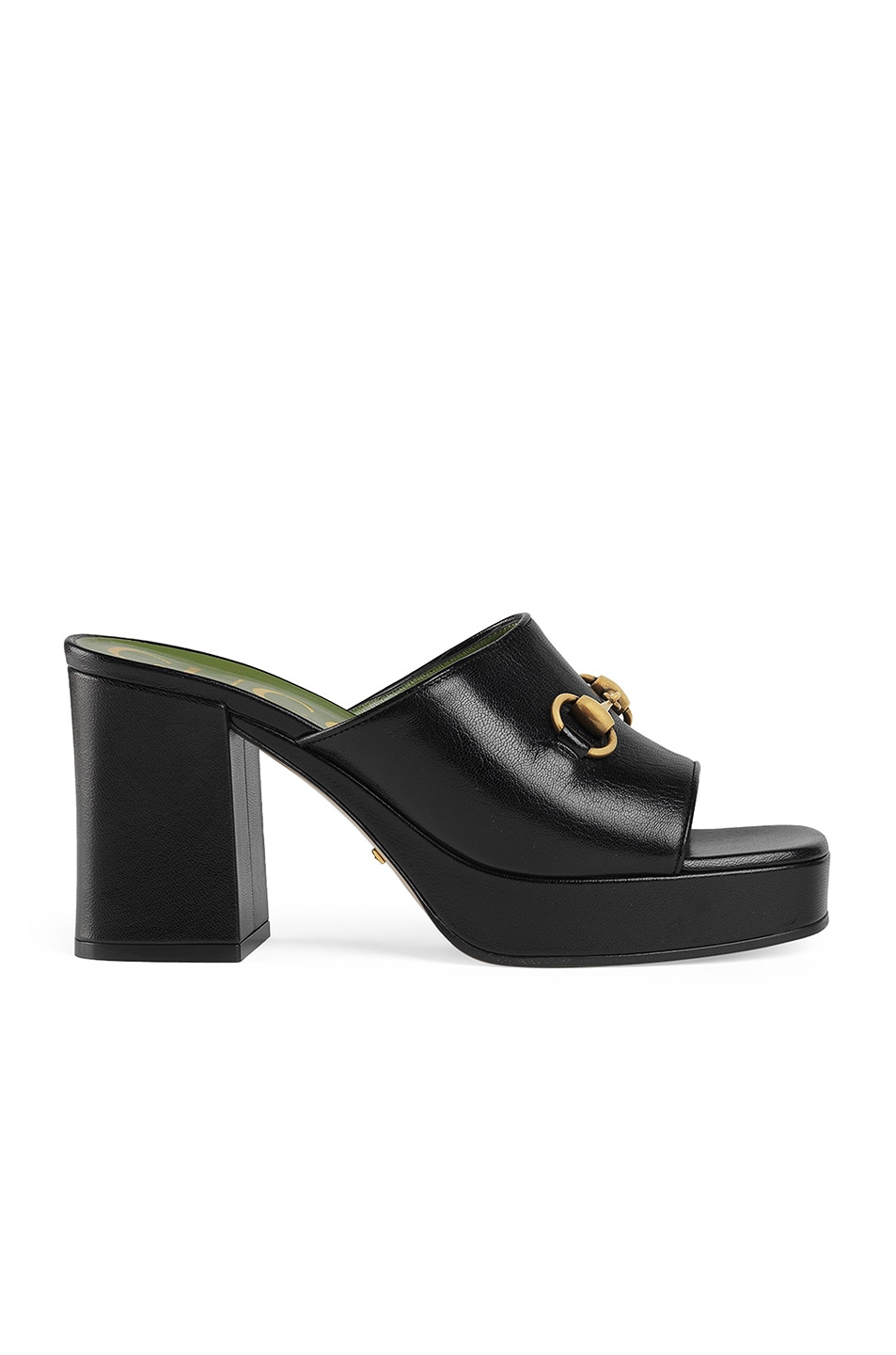 Image 1 of Gucci Mid Heel Platform Sandals in Black