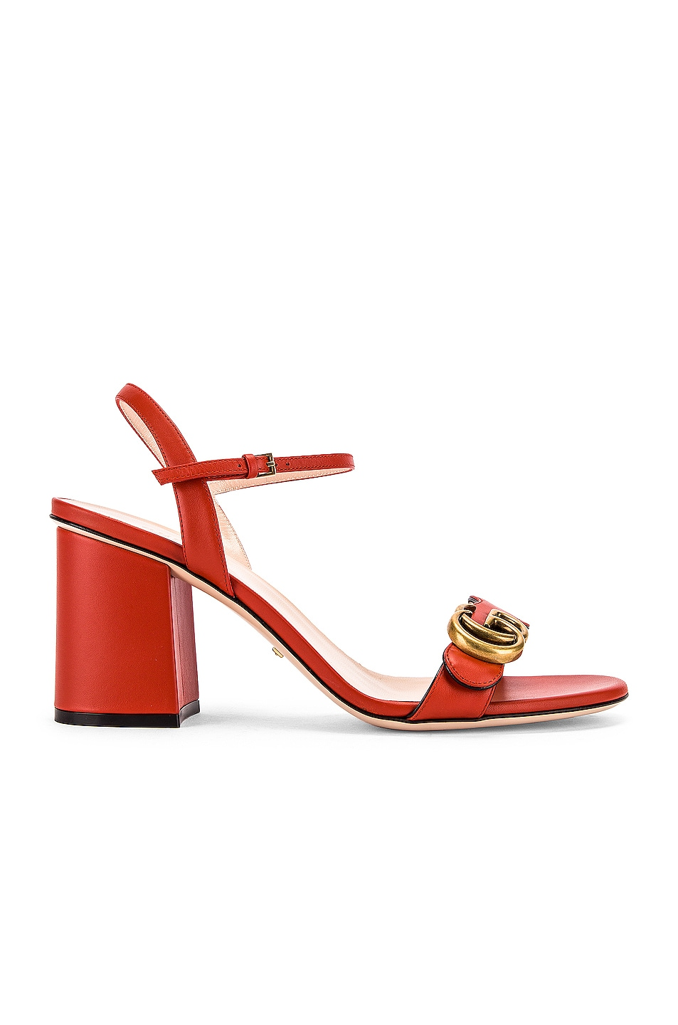 Image 2 of Gucci Marmont Sandals in Bright Pumpkin