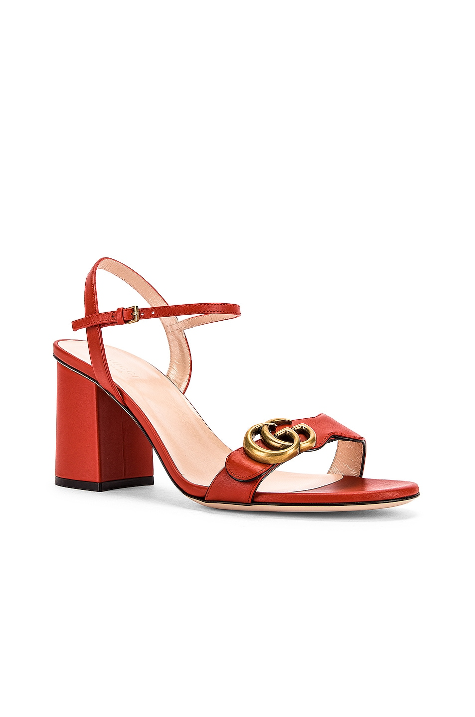 Image 3 of Gucci Marmont Sandals in Bright Pumpkin
