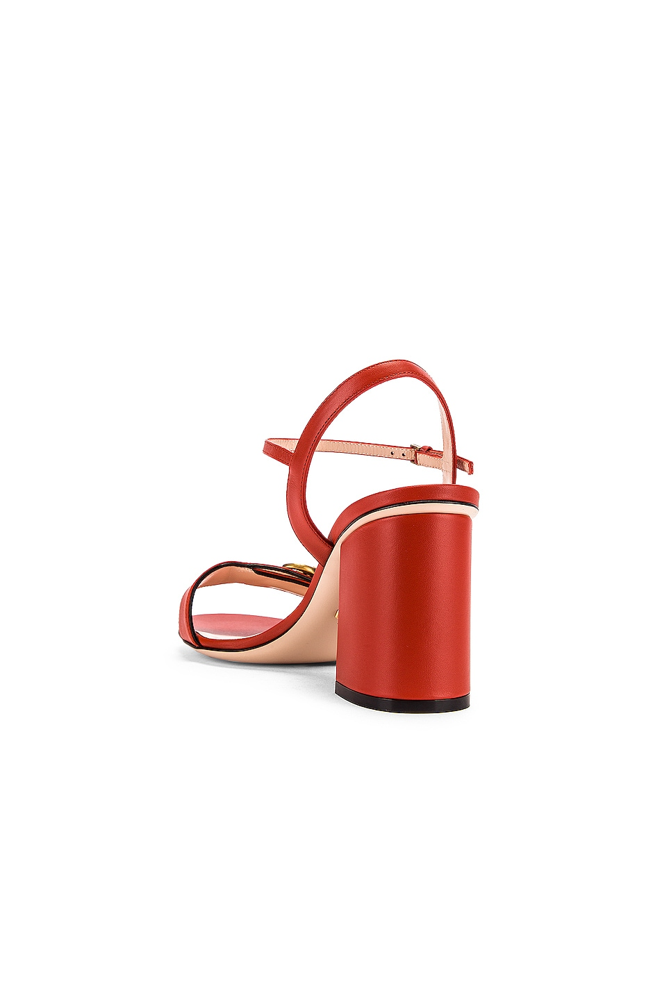 Image 4 of Gucci Marmont Sandals in Bright Pumpkin
