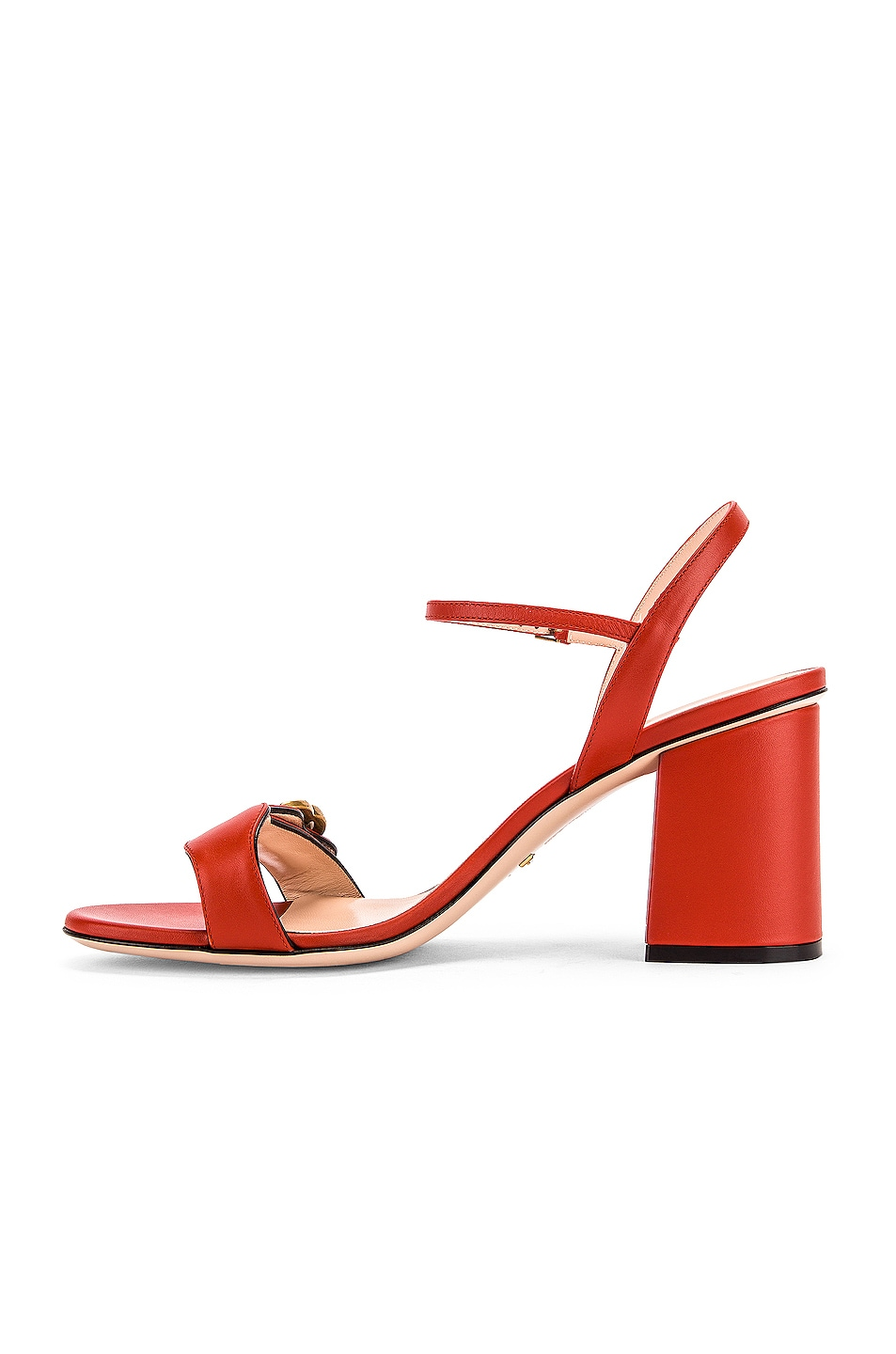 Image 5 of Gucci Marmont Sandals in Bright Pumpkin