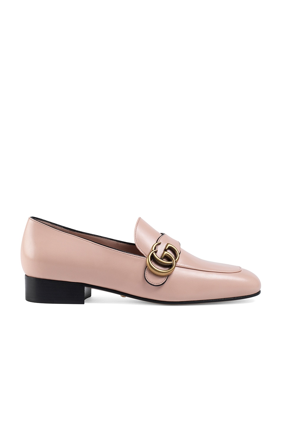 Image 1 of Gucci Double G Leather Loafers in Perfect Pink