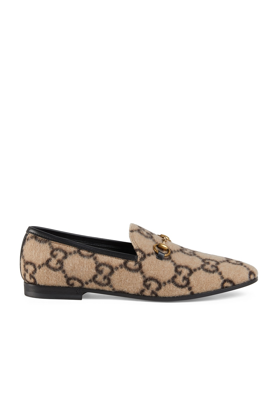 Image 1 of Gucci Jordaan Loafers in Beige Ebony & Black