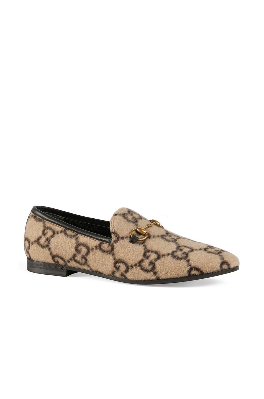 Image 2 of Gucci Jordaan Loafers in Beige Ebony & Black