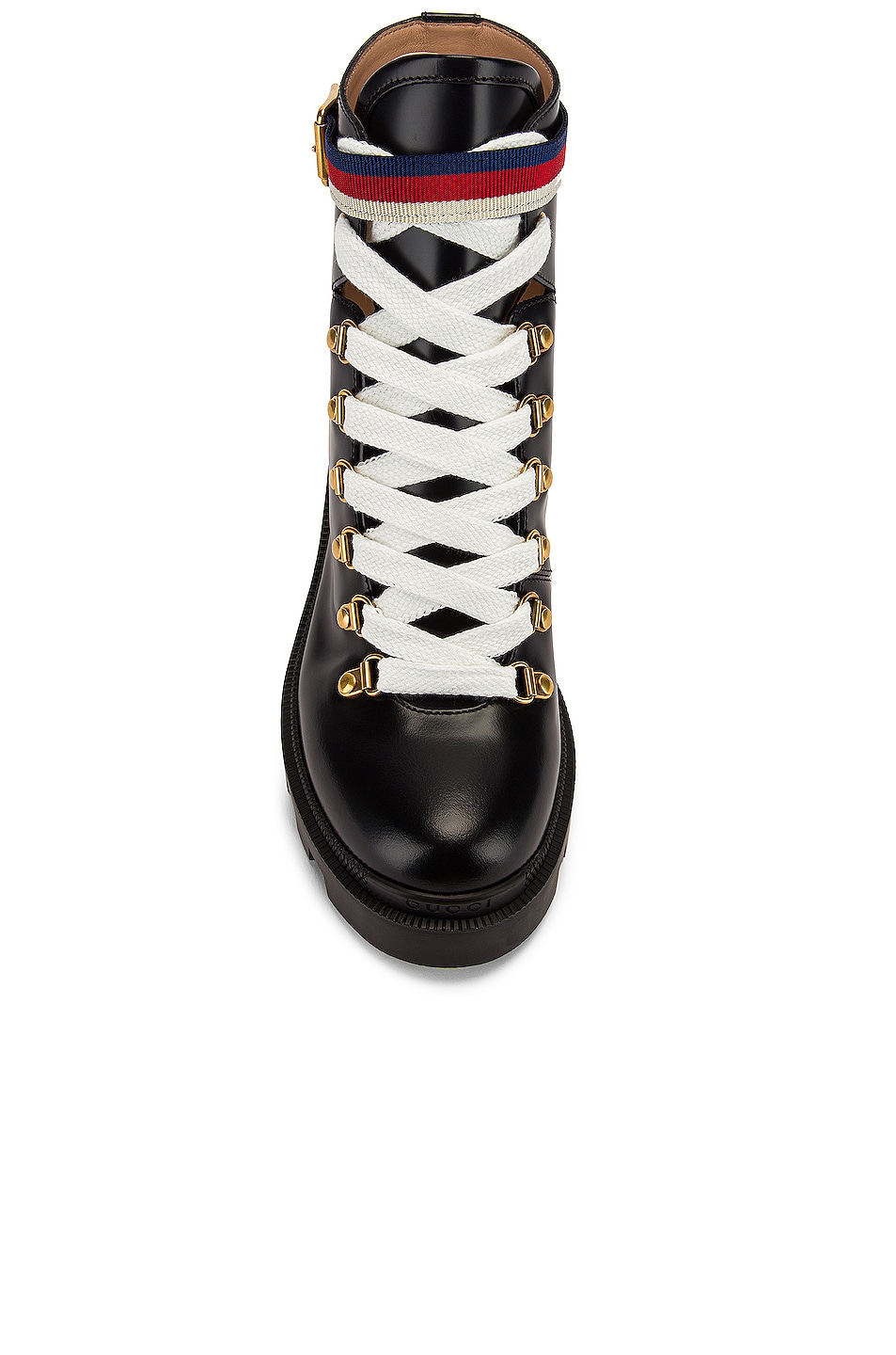 Image 4 of Gucci Trip Ankle Boots in Black & Red