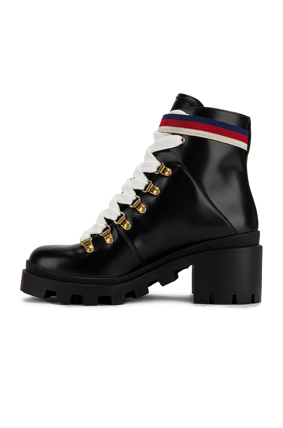 Image 5 of Gucci Trip Ankle Boots in Black & Red