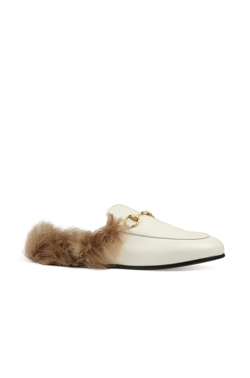 Image 2 of Gucci Princetown Slides in Dusty White & Natural