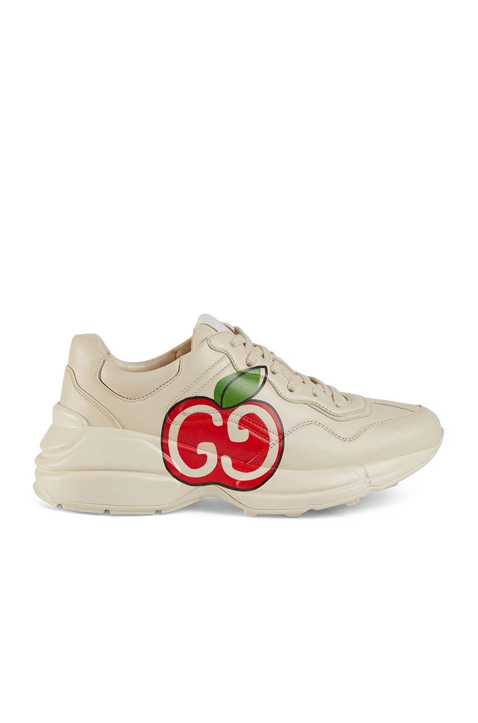 Image 1 of Gucci Rhyton Apple Sneakers in Ivory