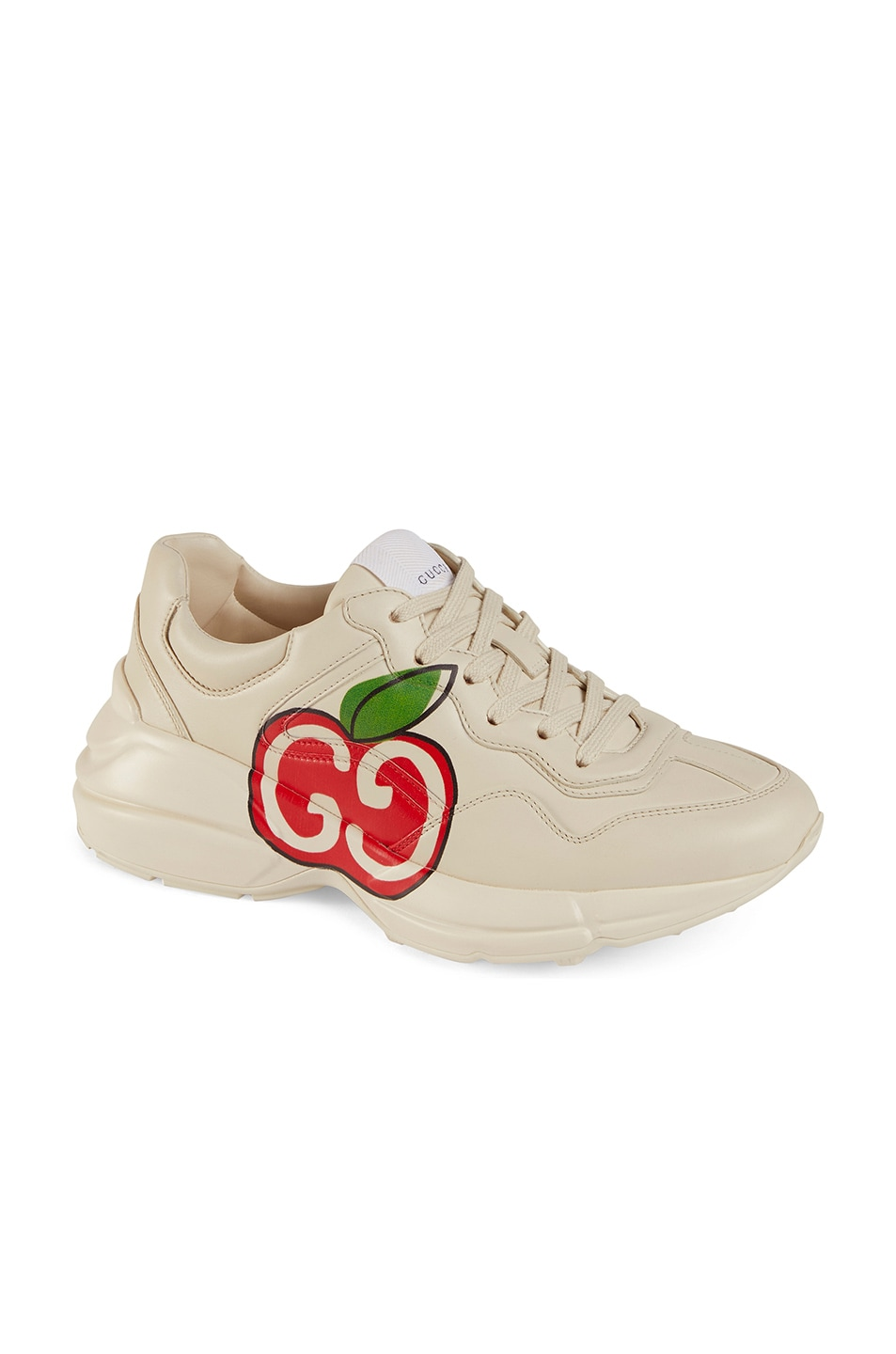 Image 2 of Gucci Rhyton Apple Sneakers in Ivory