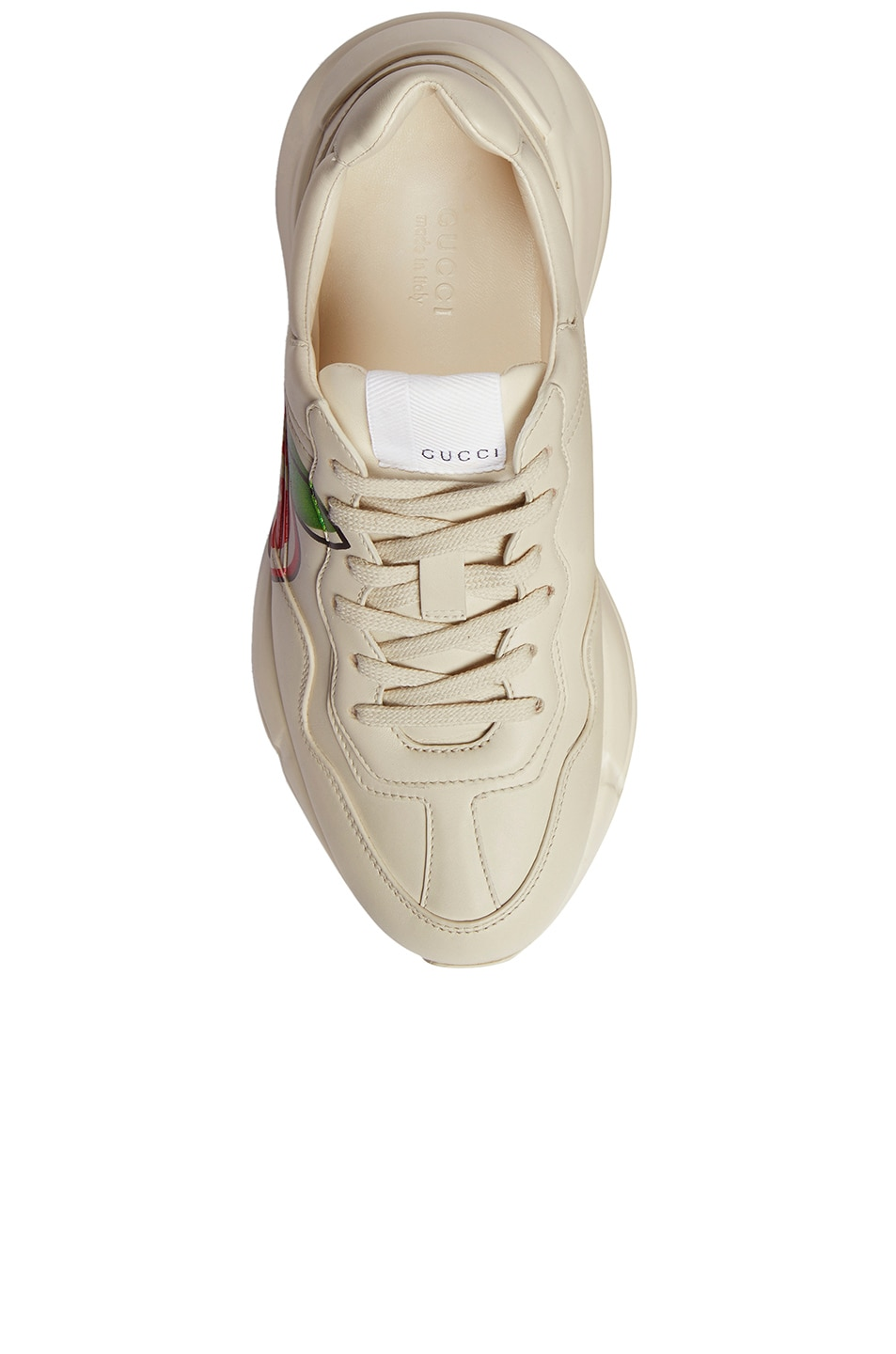 Image 4 of Gucci Rhyton Apple Sneakers in Ivory