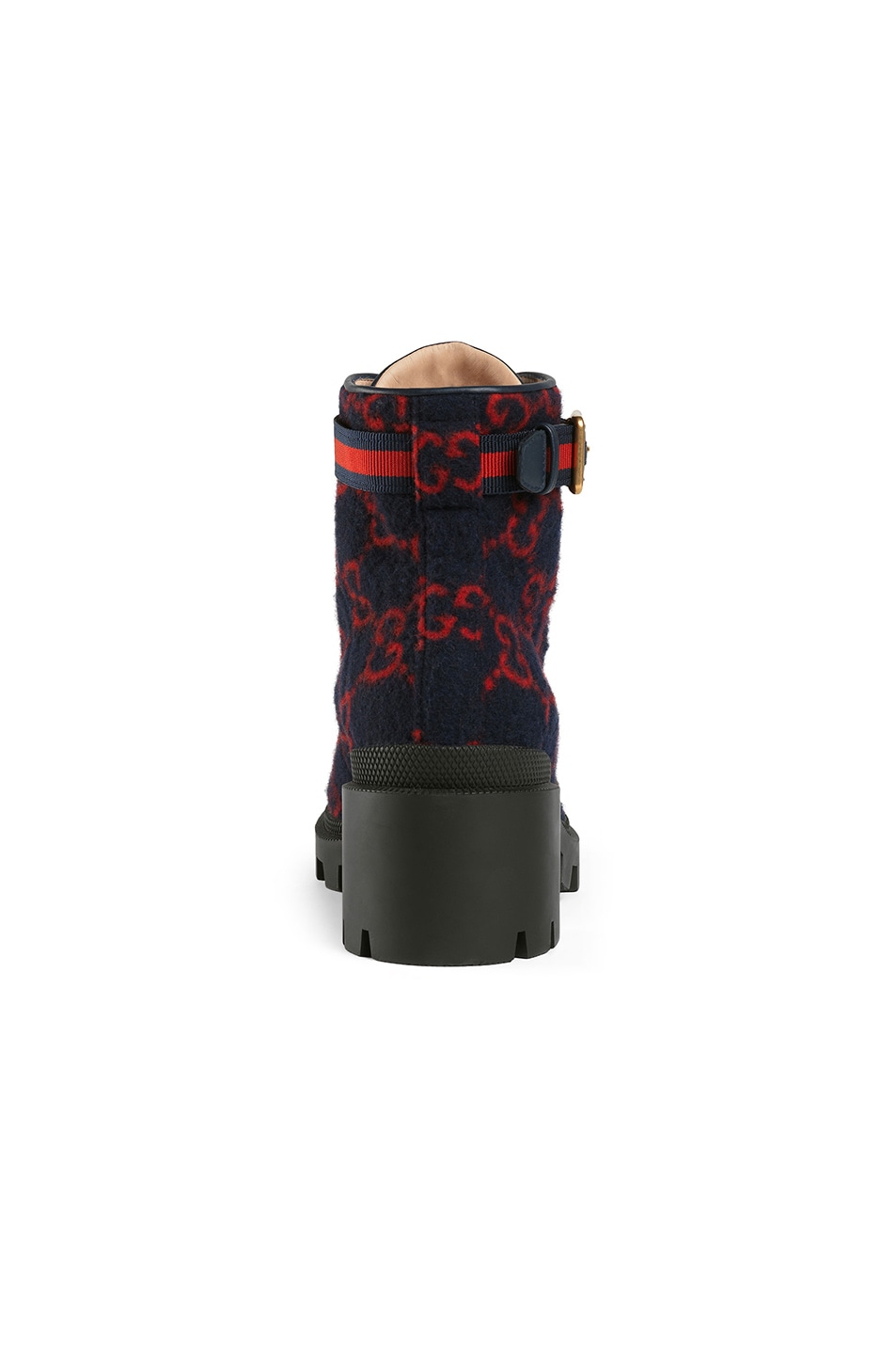 Image 3 of Gucci Wool Ankle Booties in Blue & Red