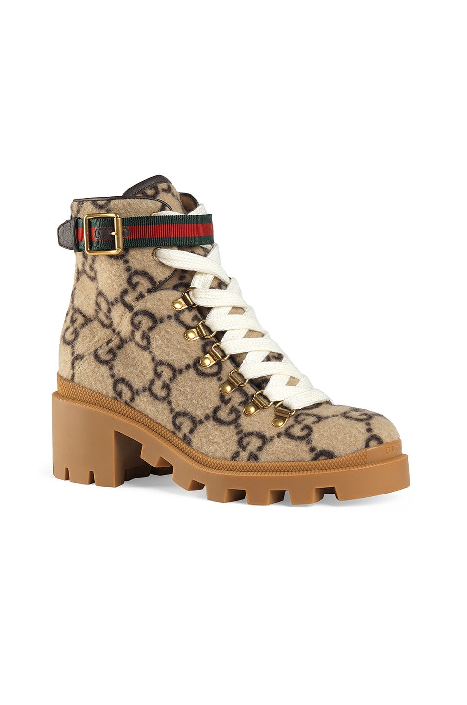 Image 2 of Gucci Trip GG Booties in Beige & Ebony