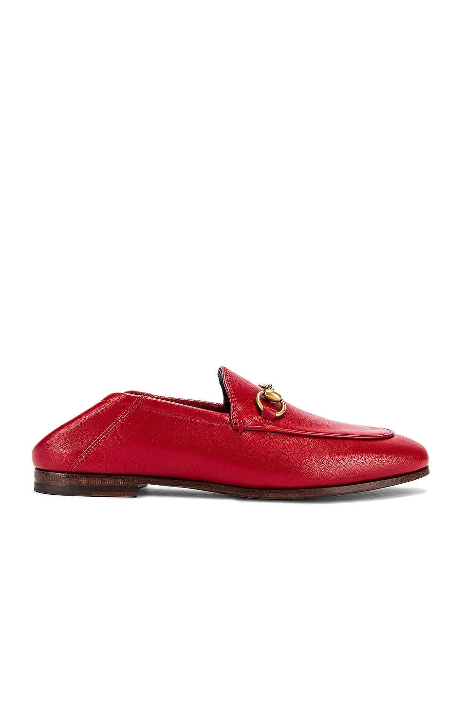 Image 1 of Gucci Leather Horsebit Loafers in Hibiscus Red
