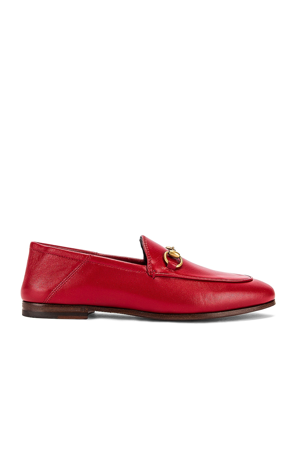 Image 2 of Gucci Leather Horsebit Loafers in Hibiscus Red