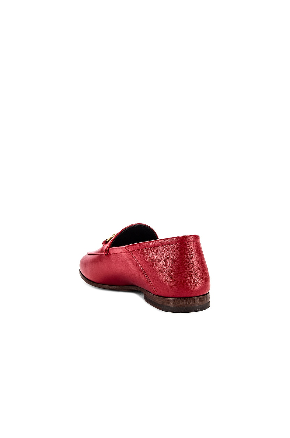 Image 4 of Gucci Leather Horsebit Loafers in Hibiscus Red