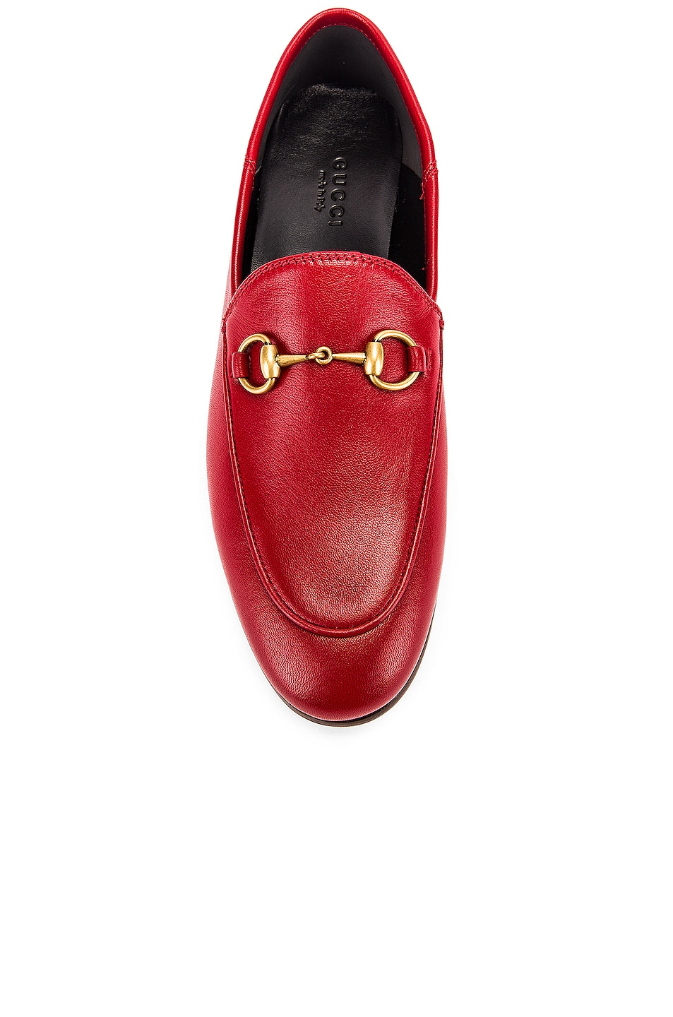 Image 5 of Gucci Leather Horsebit Loafers in Hibiscus Red