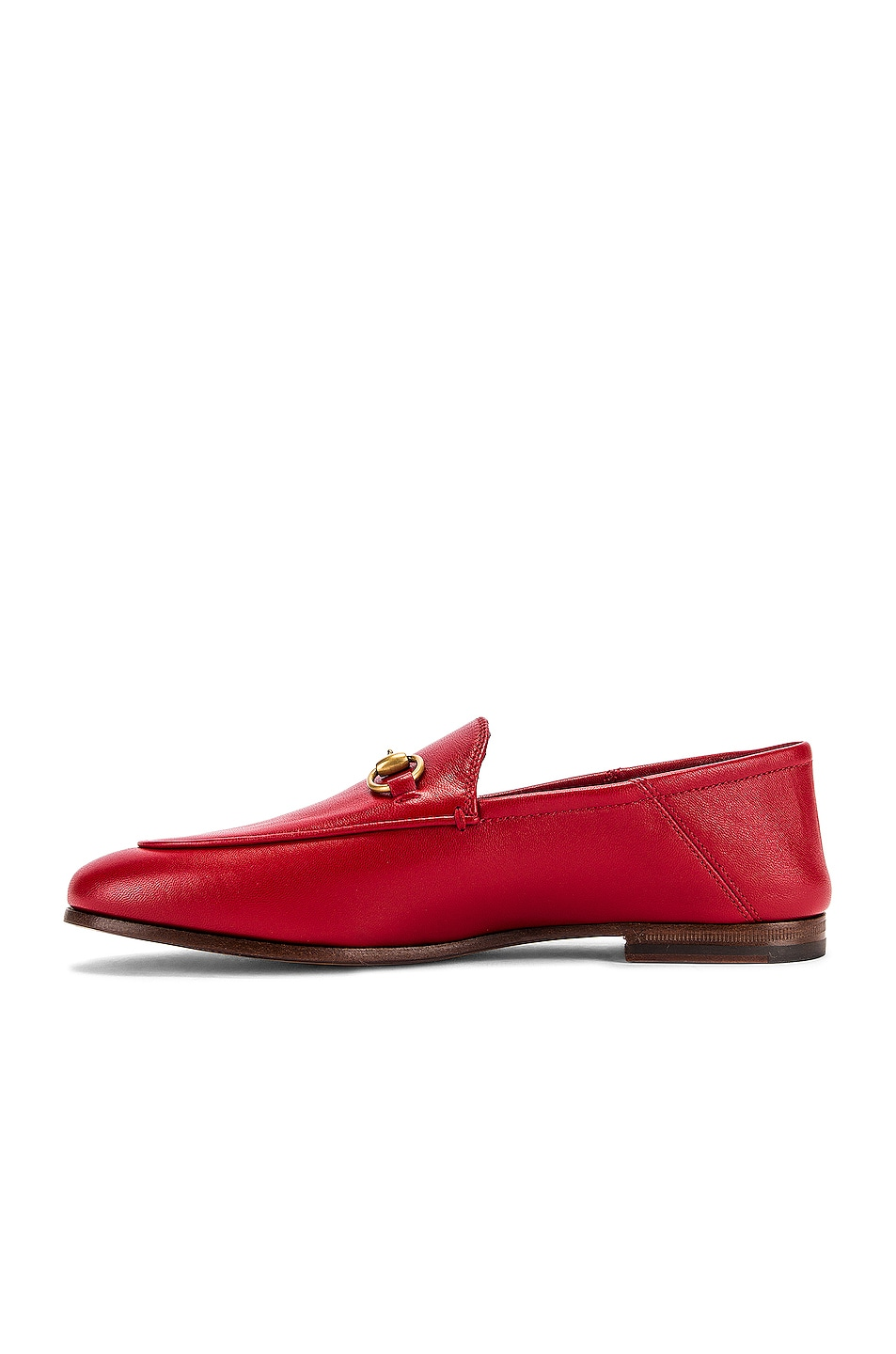 Image 6 of Gucci Leather Horsebit Loafers in Hibiscus Red