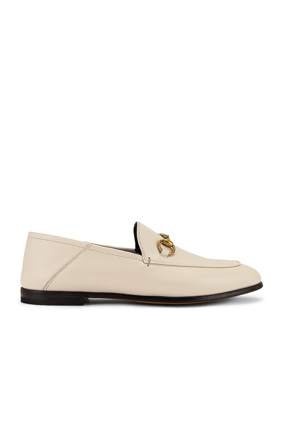 Image 2 of Gucci Leather Horsebit Loafers in Mystic White